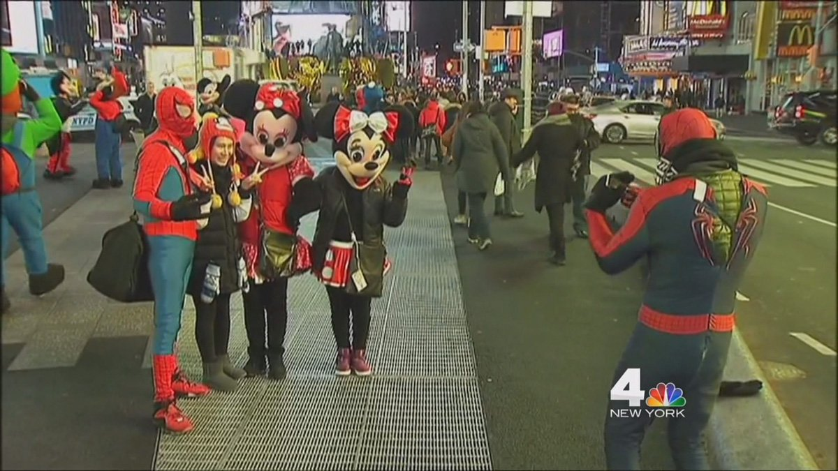 Minnie Mouse, Cookie Monster and Olaf arrested in Times Square