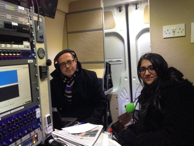 Broadcasting from outside Queens Hospital #Romford with @bbcnickrobinson on junior doctors strike #r4today