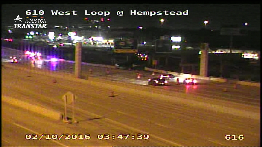 KHOUtraffic Roadwork: 610 West Loop NB, Old Katy Rd to W. 18th, 3 RIGHT LANES BLOCKED. KHOU11