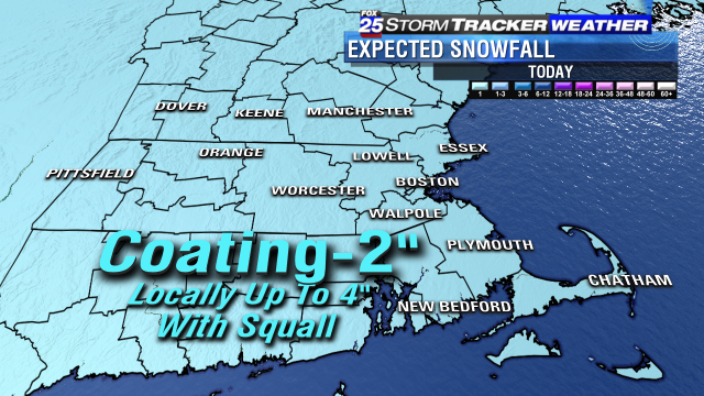 In the scope of snow storms, this is about as small as it gets! fox25