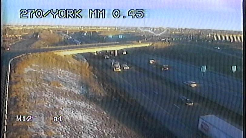 All clear on EB 270 at York. Heavy stop and go in the usual spots with plenty of sun to slow the EB drivers.