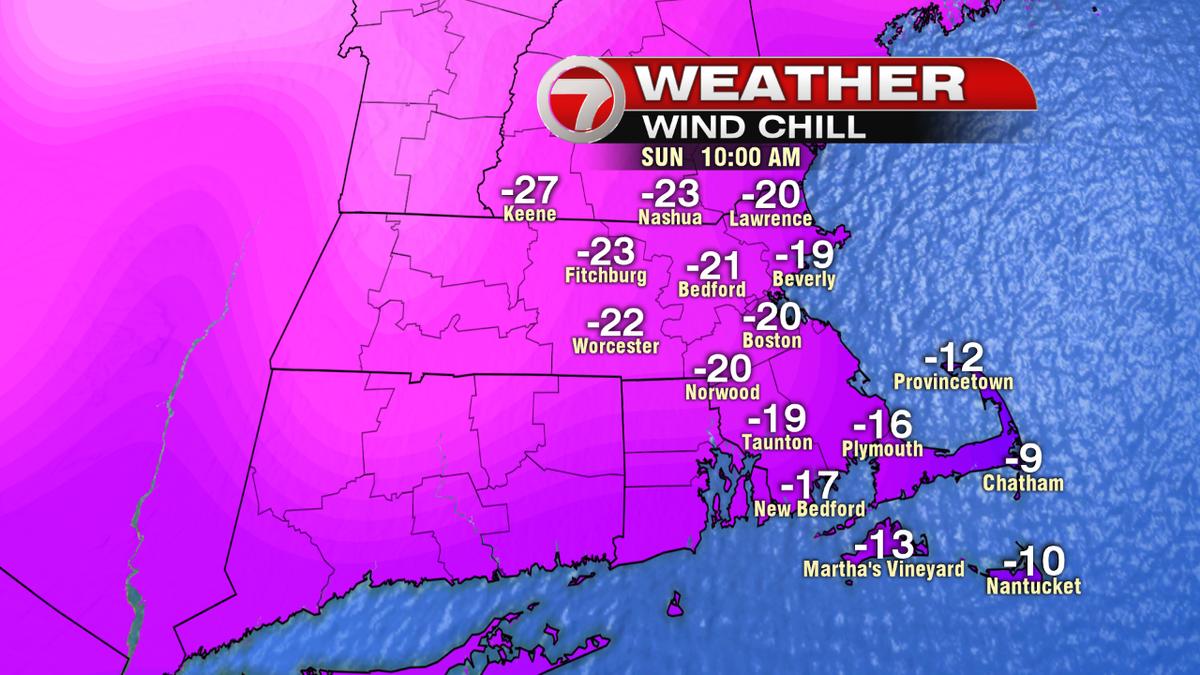 Yikes! Saturday night/Sunday morning.... wind chill values pushing 20 BELOW 0. 7news