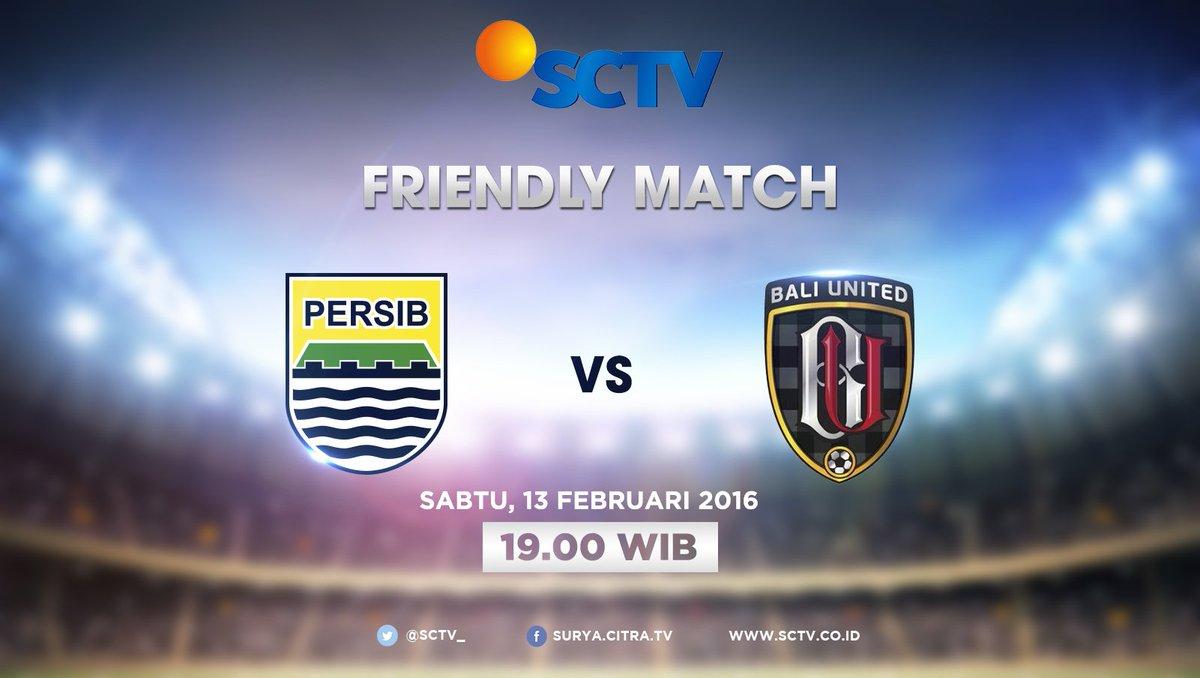 jadwal tv siaran langsung Persib vs Bali United live di SCTV