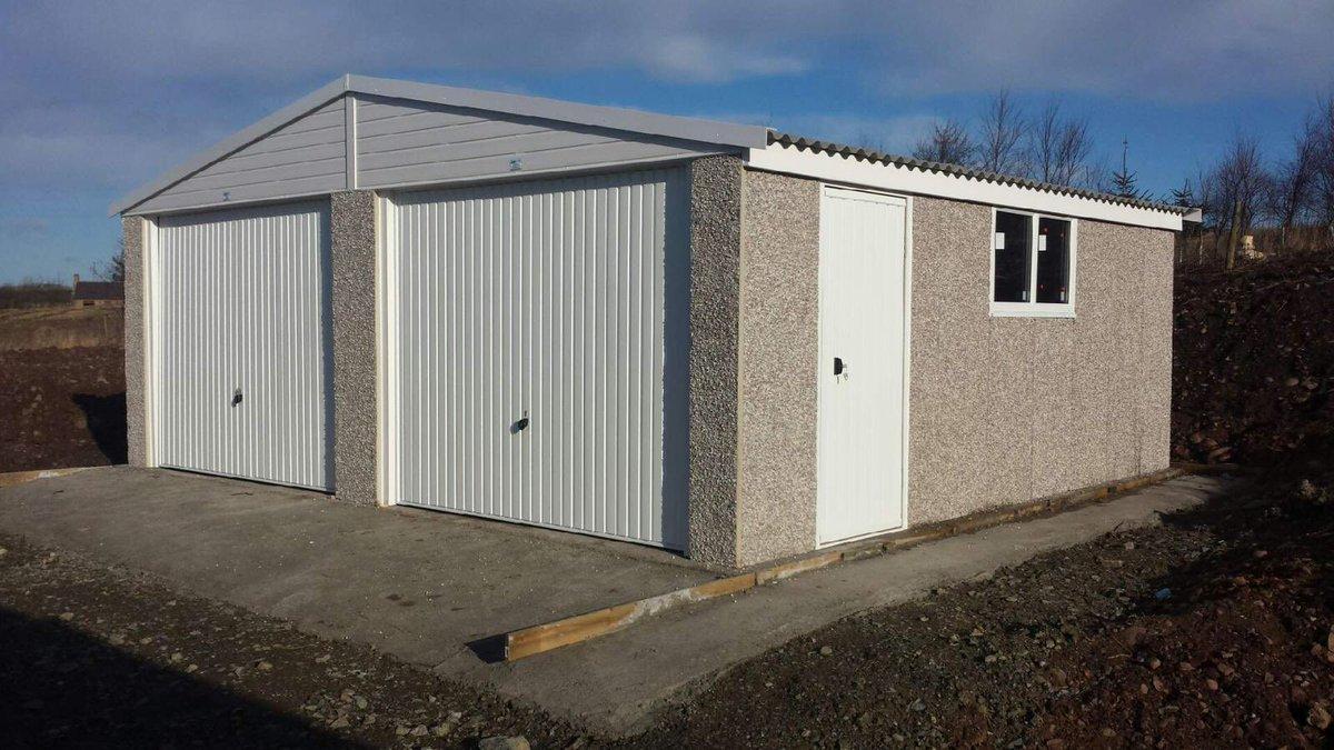 Outdoor Building G On Twitter Concretegarage 18x20 Double Garage