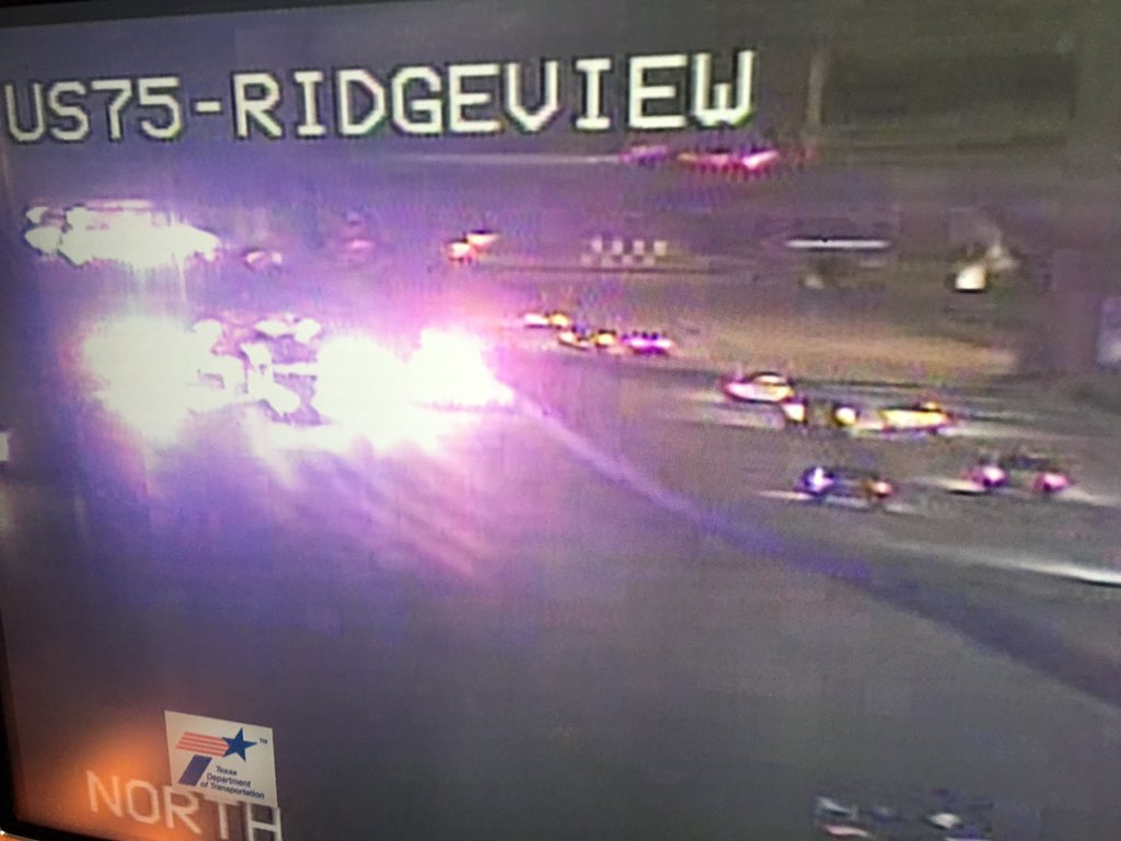 75 SB CLOSED due to ax at Ridgeview Dr (near Hwy 121 interchange) in Allen @NBCDFW DFWTraffic
