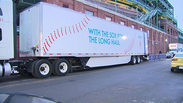 It's Truck Day at Fenway Park @RedSox fans!