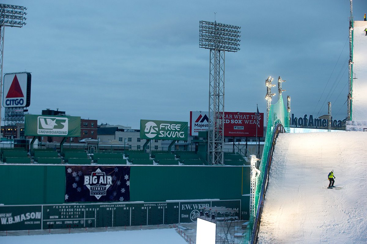 Athletes soaring high above Fenway might seem more reminiscent of an Evel Knievel stunt