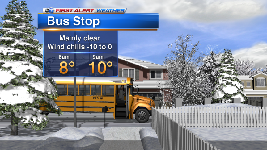 BUS-STOP FORECAST: Chicago BUNDLE UP!!!!