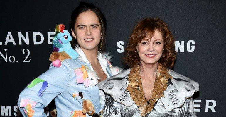 67b6f52bf Filho de Susan Sarandon usa roupa excêntrica na première de Zoolander 2.  Veja o look