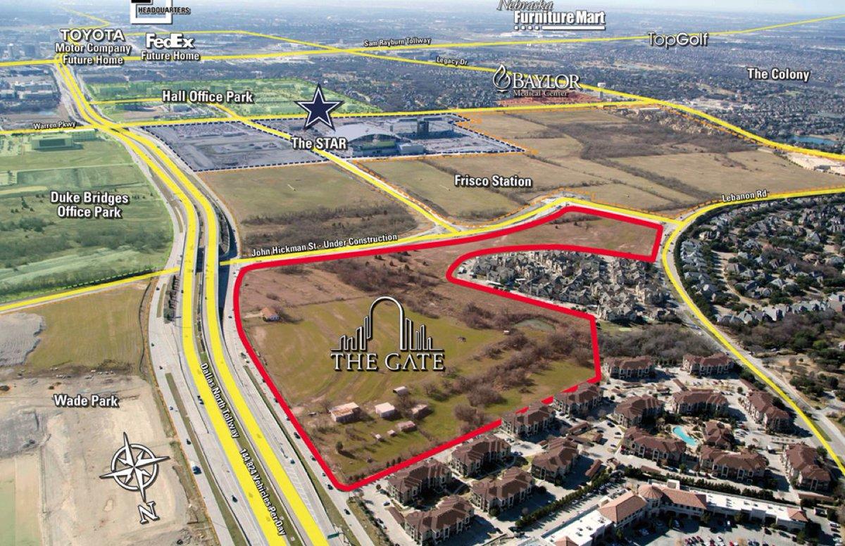 40-acres of land on Frisco's $5 billion mile is suddenly for sale