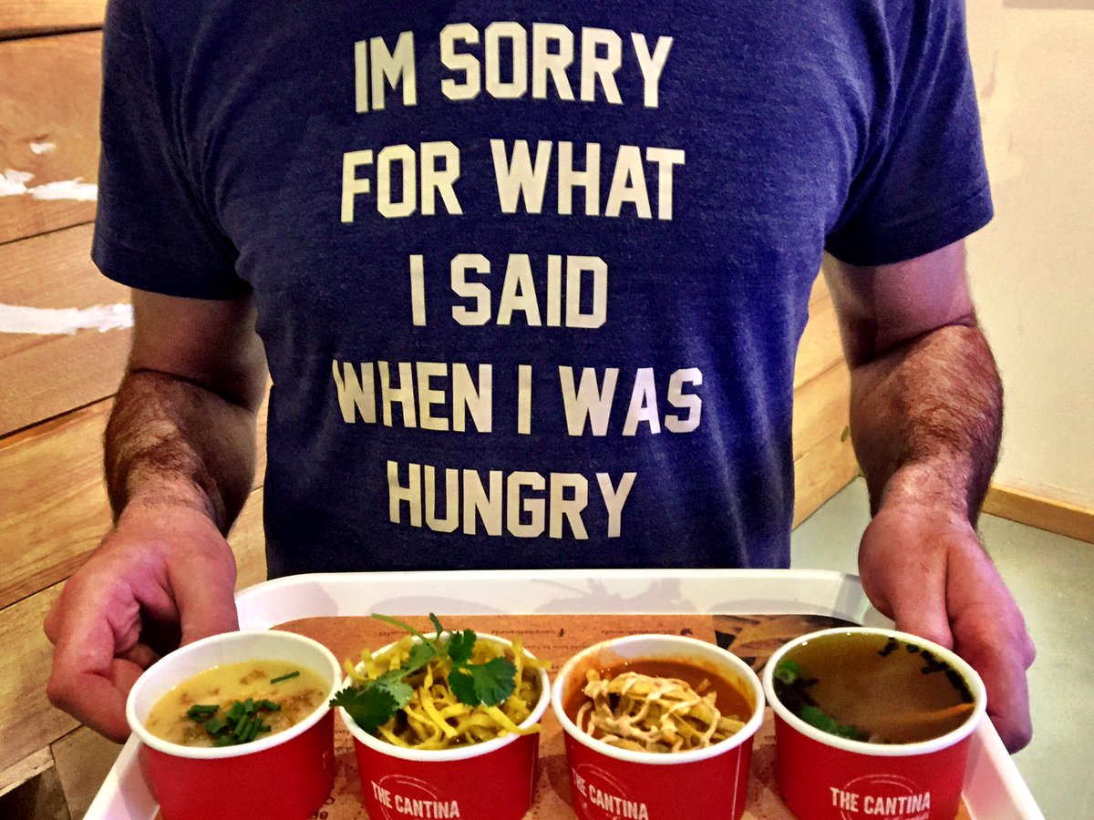 Hungry? #TheCantinaByCampbells in TO has just what you need. Stop in for free soups by @MattDeanPettit #WeAllSoupTO https://t.co/6V8UwgIgVK