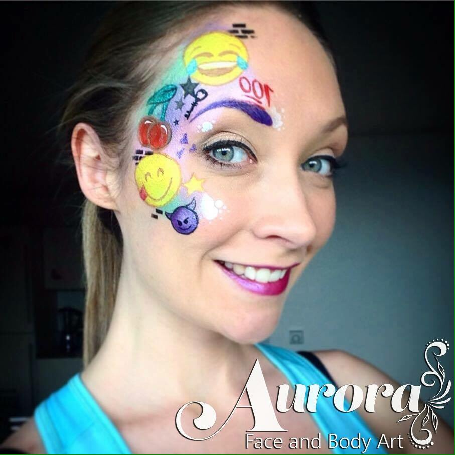 Aurora face body art on twitter new face paint design for Latest face painting designs