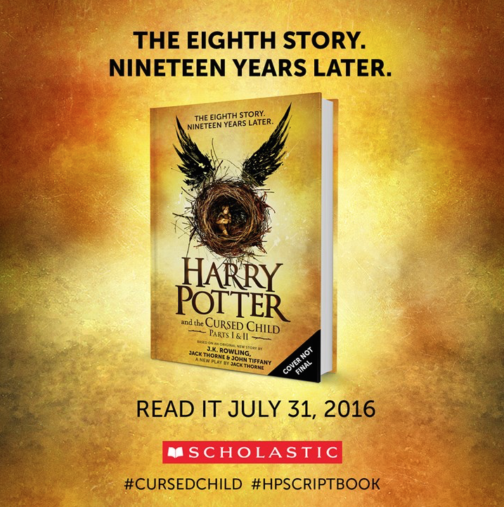The eighth Harry Potter Story. Nineteen years later. Read it on July 31st! #CursedChild #HPScriptBook https://t.co/4FNi2tltfI