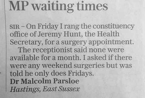 RT @thei100: This is a very awkward letter for Jeremy Hunt about working weekends https://t.co/a1zm4GxzIf https://t.co/VEdN9p7mlS