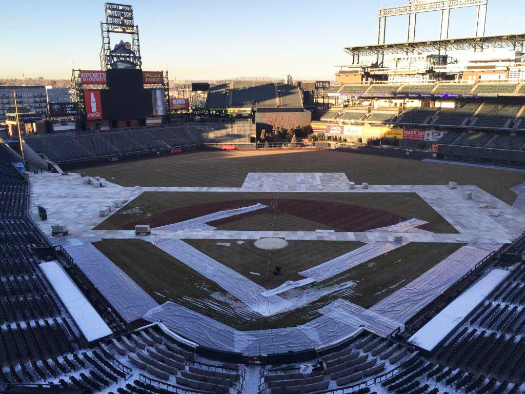 Coors Field being converted from baseball stadium into hockey stadium for Avalanche & DU -