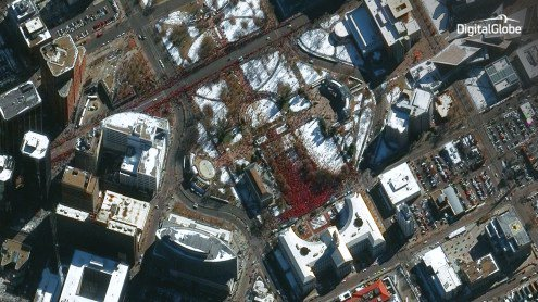 Denver BroncosParade as seen from space