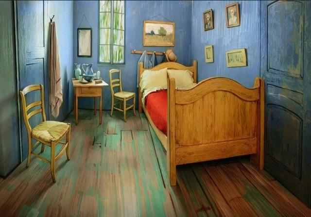 Airbnb Lists Replica Of Van Gogh's 'Bedroom' Painting In River North