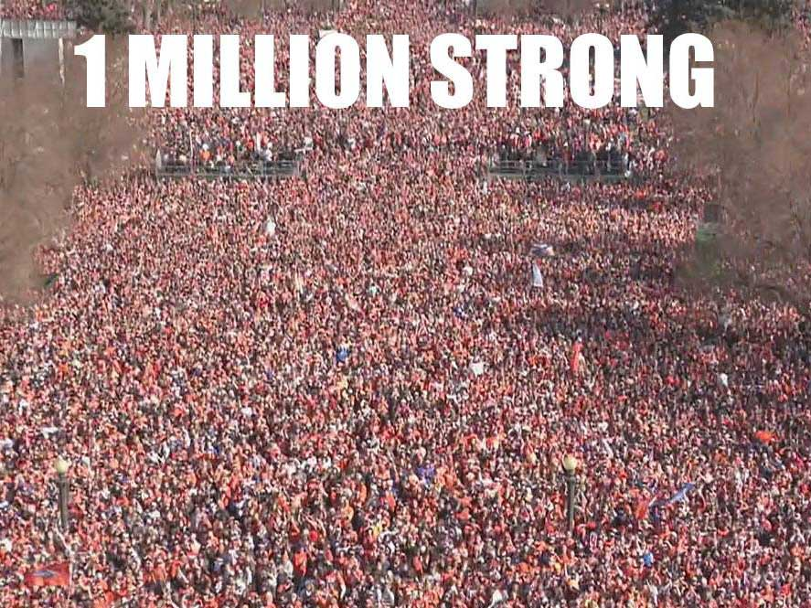 1 million people, just one arrest at Denver Broncos Super Bowl parade and rally -