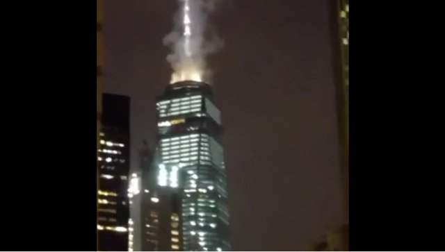 Despite Numerous Photos, Government Officials Claim 1 WTC Was Not On Fire Last Night