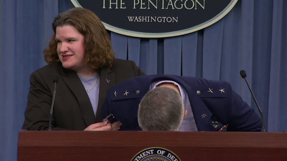 Air Force general faints during budget talks -