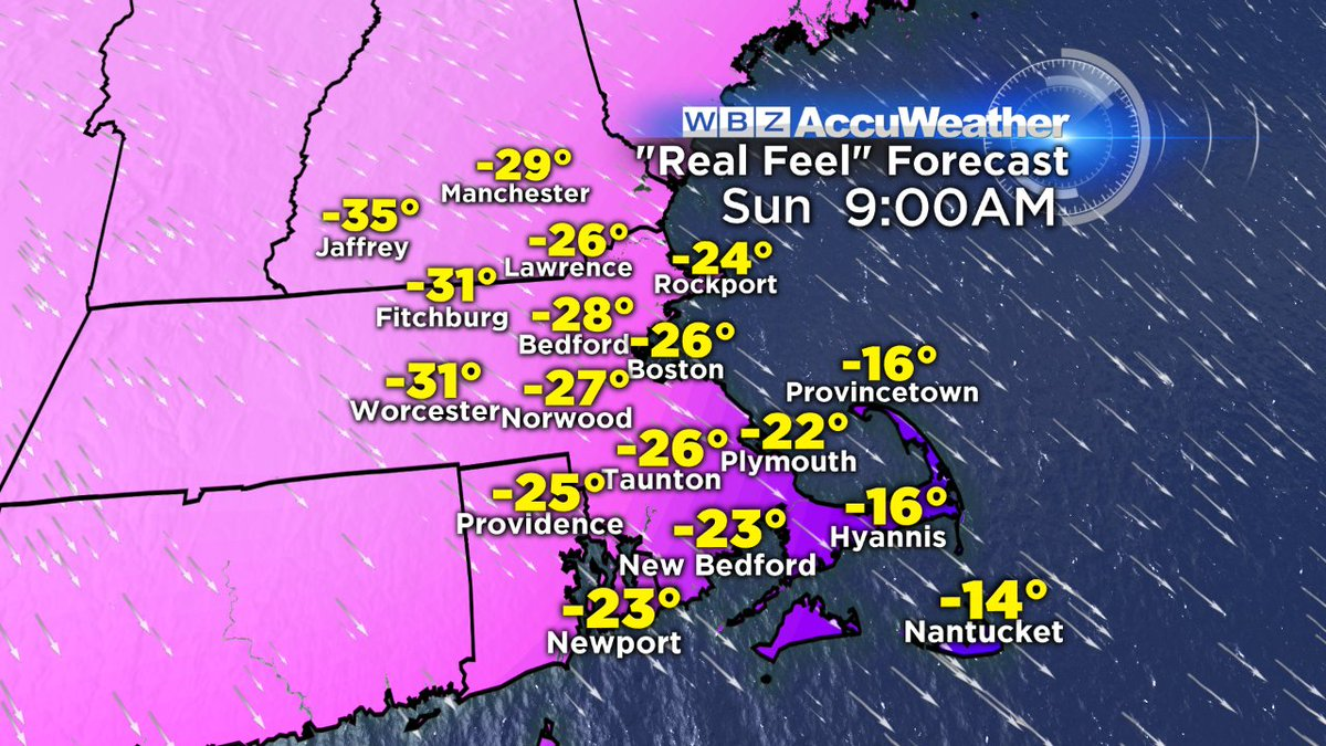 So, you might want to stay in bed Sunday morning. @DanielleWBZ4 has more on the Arctic blast