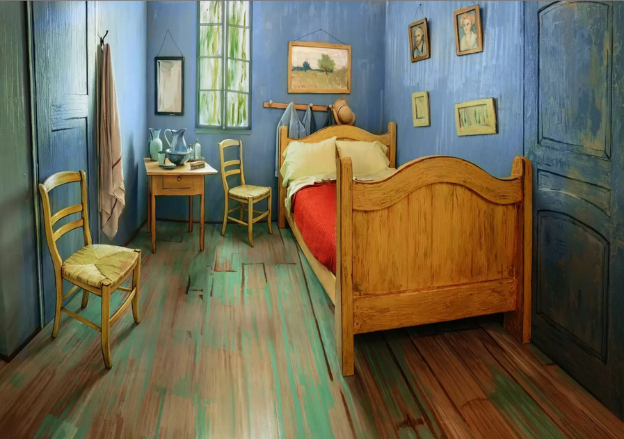 @artinstitutechi recreated Van Gogh's bedroom and listed it on Airbnb for $10.
