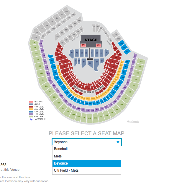 Citi Field Concert Seating Chart Vipseats Com Citi Field Tickets