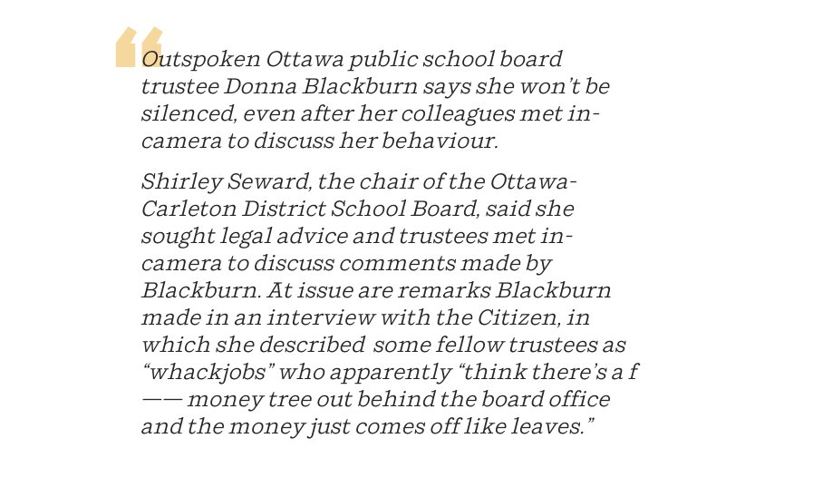 This is, by @JacquieAMiller, is the best school board trustee story you'll ever read.