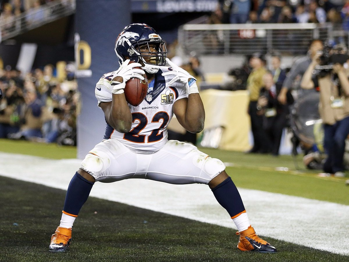 Happy Birthday to Broncos' @cjandersonb22, just the 4th undrafted RB in NFL history to rush for TD in a Super Bowl.
