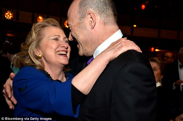 #MomentOfClarity: Hillary Clinton with Gary Cohn, Goldman Sachs COO, in 2013