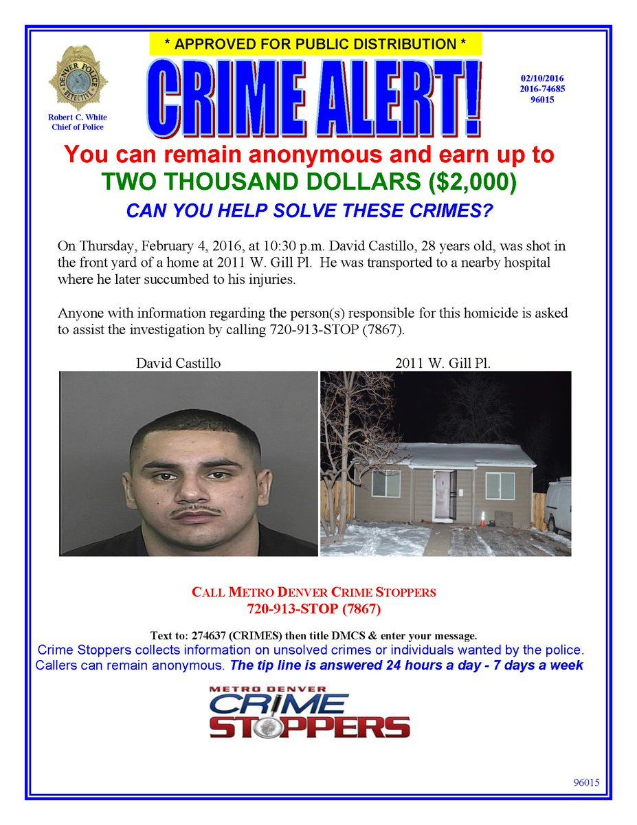 Denver, do you have any info on this homicide? Call @CrimeStoppersCO and you could earn a cash reward!