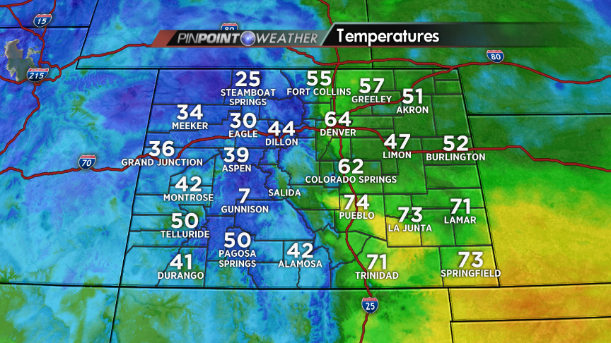 Sorry East Coast peeps...but we've got some 60s & 70s in CO today! :)
