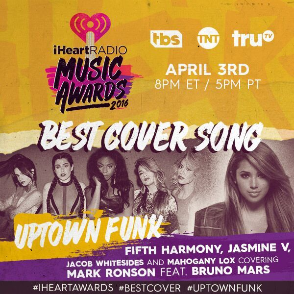 FINALLY: RT TO VOTE 4 #UptownFunk for #BestCoverSong at the #iHeartAwards!
