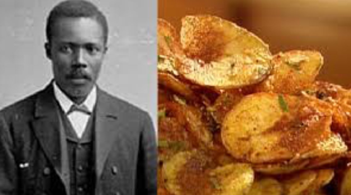1853-George Crum credited w/ creating Americas favorite snack potatochips BlackHistoryMonth knowledgeispower