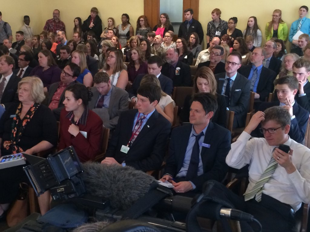 Large crowd for debate on Senate Bill 64 concerning death penalty. 9news