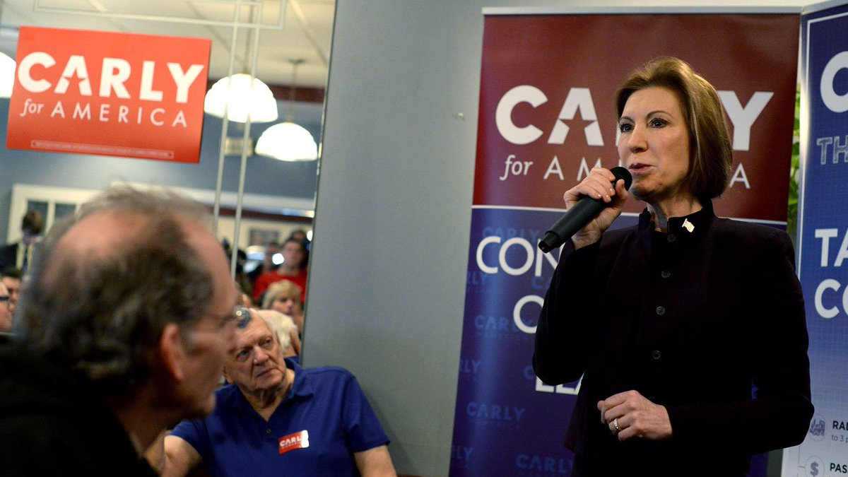 Republican Carly Fiorina announces plans to end presidential campaign.
