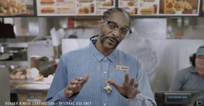 @SnoopDogg hilarious endorsement of @BurgerKing new hot dogs