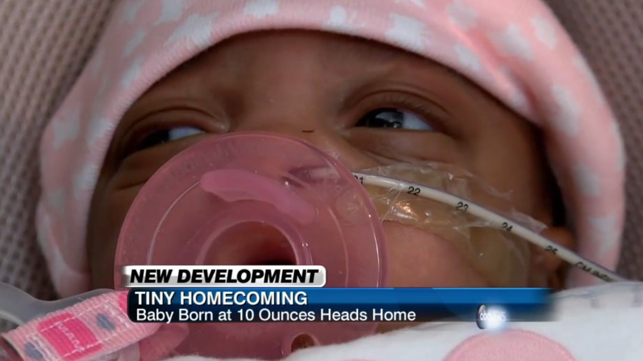 One of the smallest surviving babies born in NC heads home with family