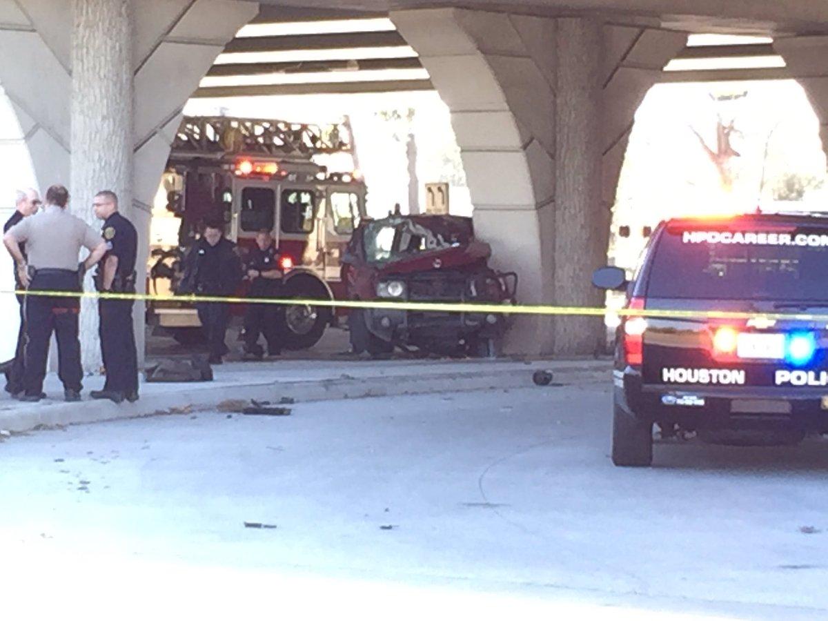 Fatal wreck on Kingwood Dr under 59 North. @abc13houston abc13
