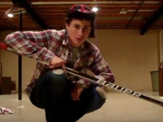 MUST SEE VIDEO: At 19, @Dylanlarkin39 was an @NHL All-Star. At 13... he was