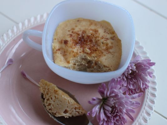 Breakfast anyone? Here's a quick recipe for a microwaved mini muffin in a mug