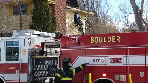 Firefighters Rescue Woman For House Fire In Boulder