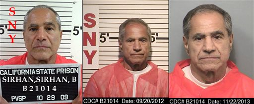 Sirhan Sirhan, assassin of Robert Kennedy, denied parole