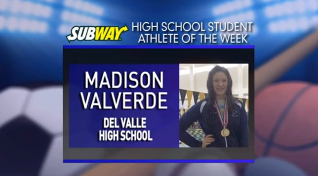Del Valle freshman named Student Athlete of the Week -