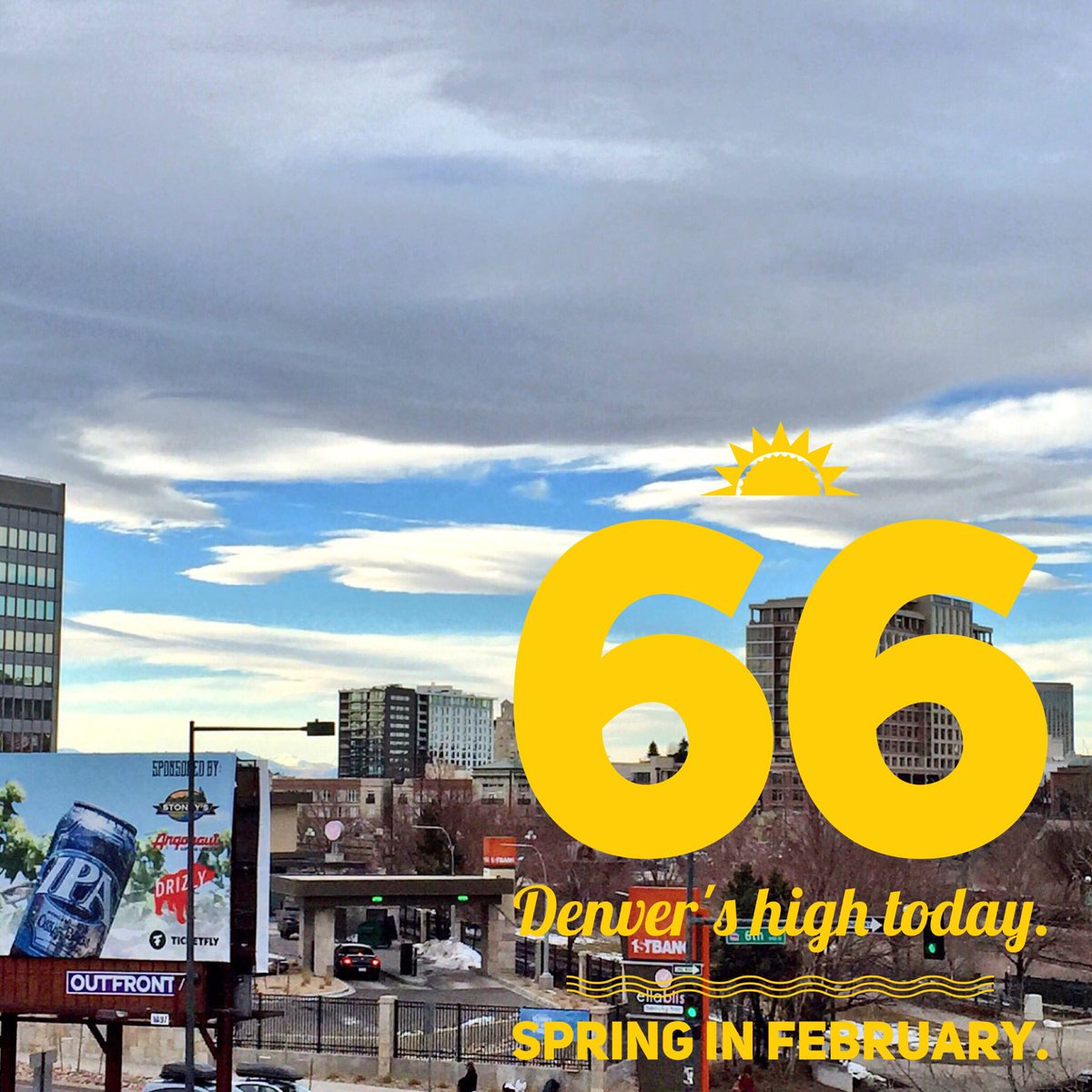 Snow? What snow! Taste of spring in Mile High City today. High 66!