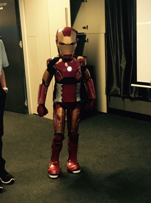 #IronBoyAU is all suited up and ready to go! @MakeAWishAust https://t.co/7lz06GEU8P