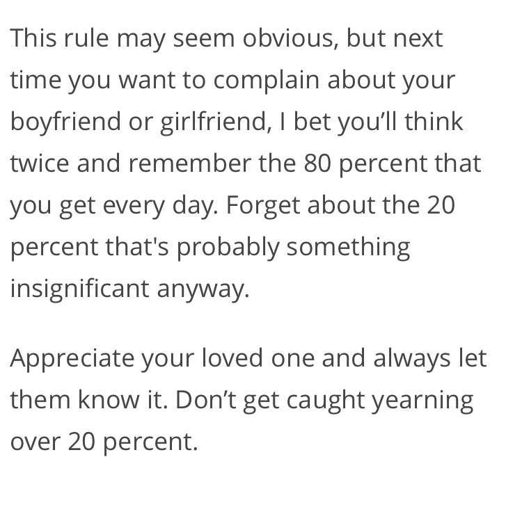 80/20 rule dating twitter