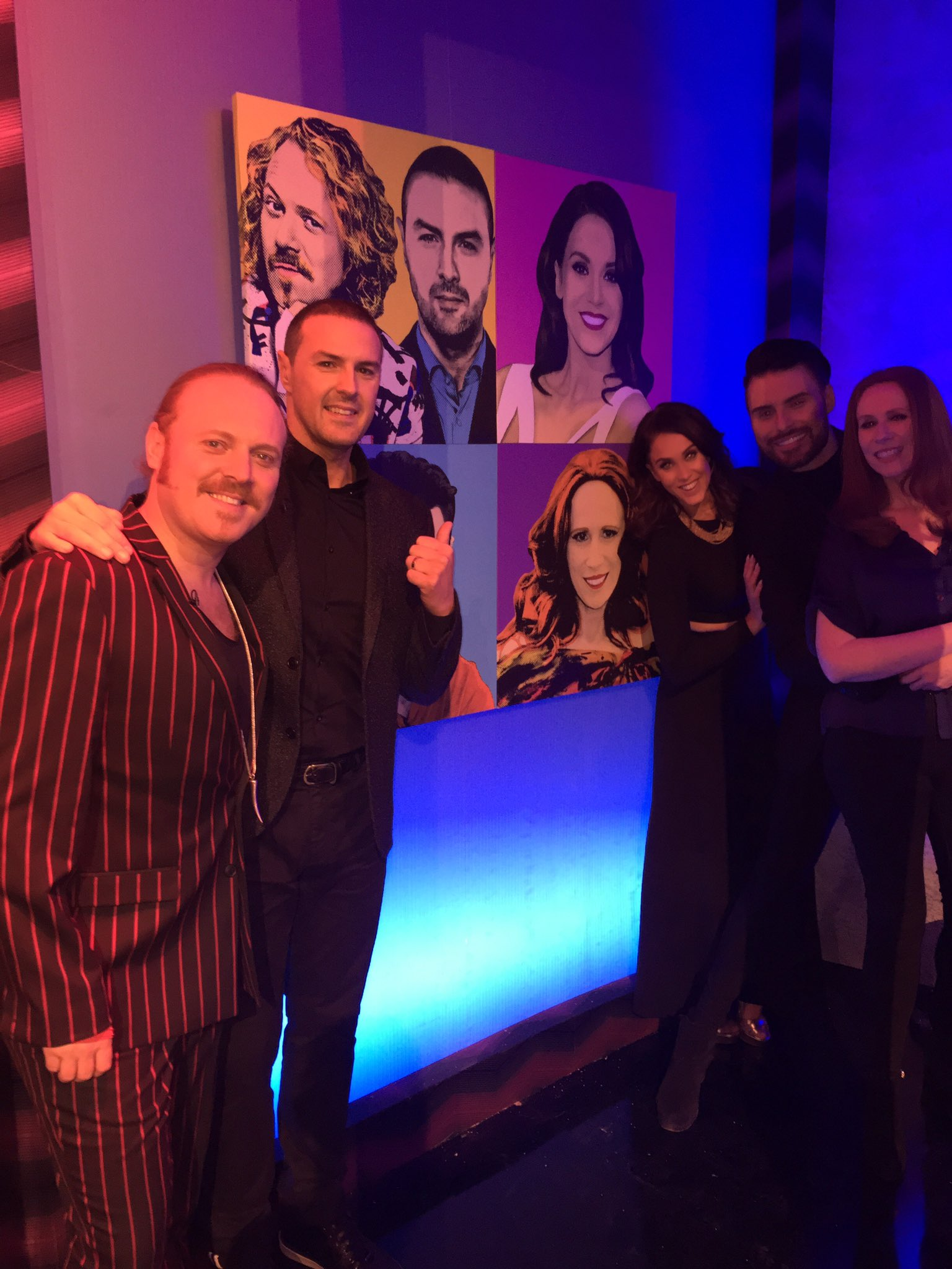 Amazing night filming tonight with this hilarious lot... @lemontwittor @PaddyMcGuinness @Rylan and #CatherineTate 💜 https://t.co/hojjTOFLAG