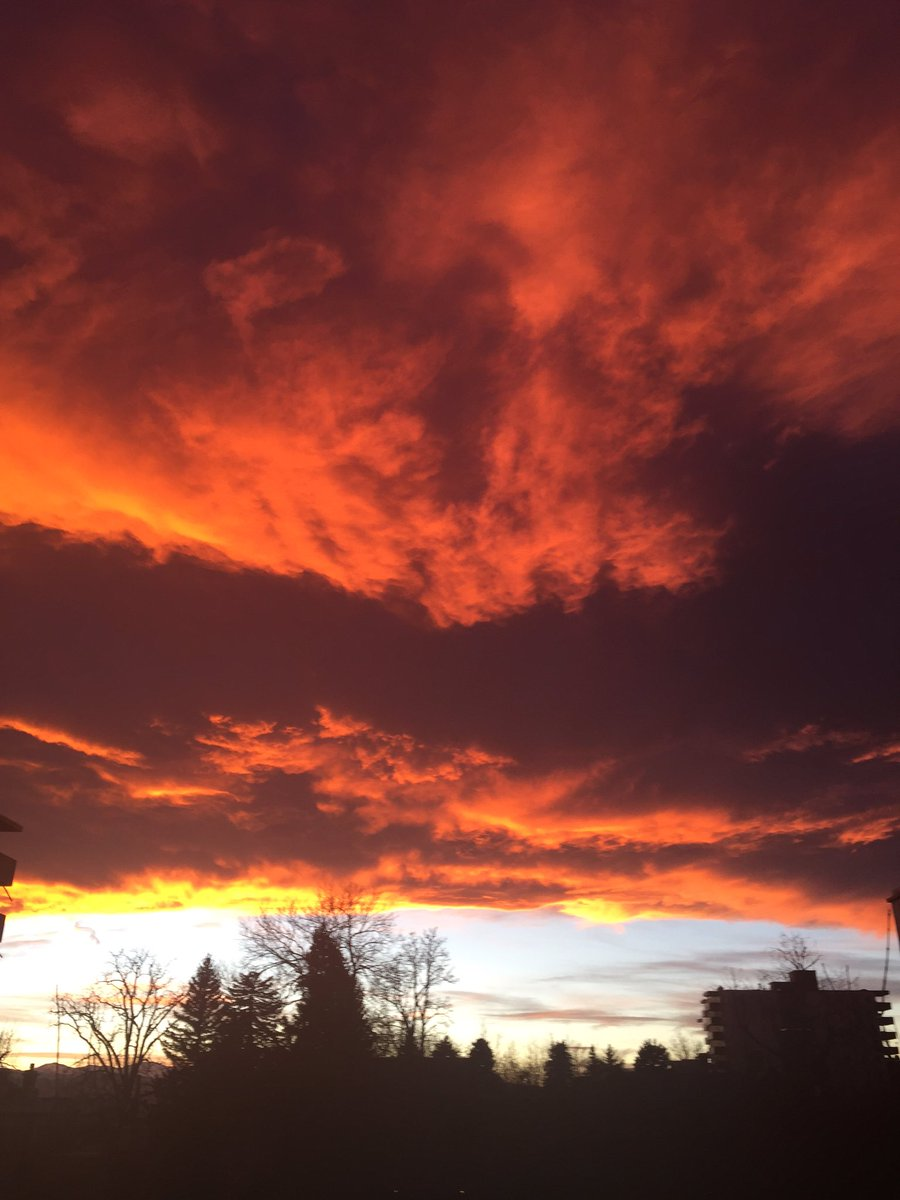Fiery sunset in Denver 9wx