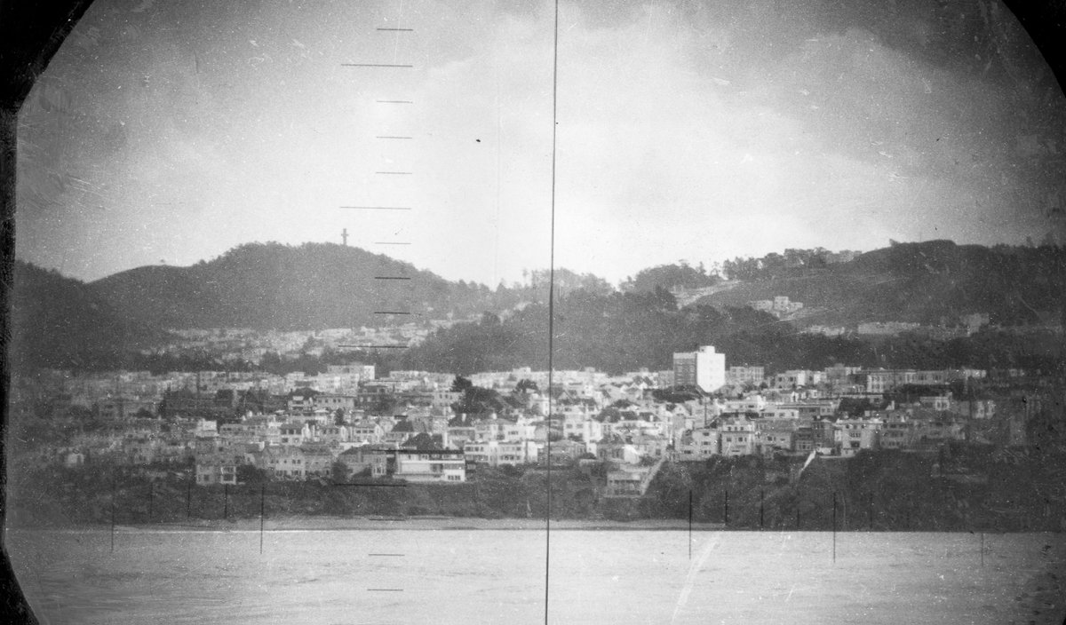 Sea Cliff & Mt Davidson, seen from a submarine periscope in 1951. More photos coming soon to